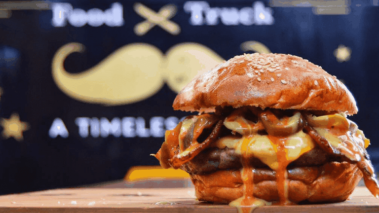 A juicy burger