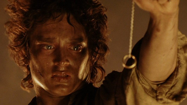 Elijah Wood as Frodo Baggins in The Lord of the Rings: The Return of the King