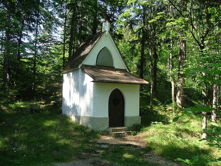 A stop on the Kalvarienberg, Füssen, Germany