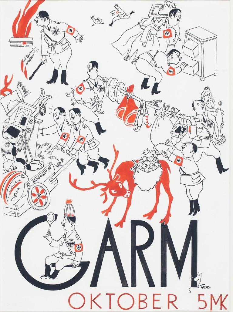 Tove Jansson, Cover illustration for the magazine Garm, 1944