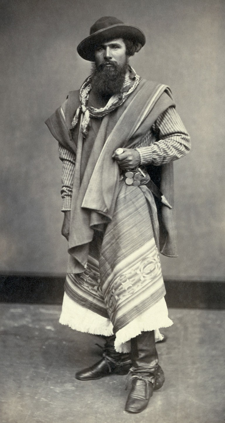 An old picture of a traditional gaucho