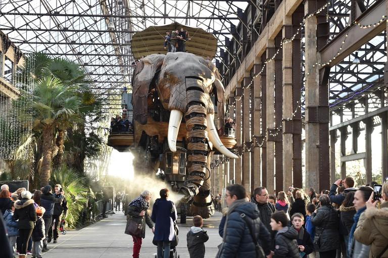 The giant elephant of Les Machines de l'île, Nantes