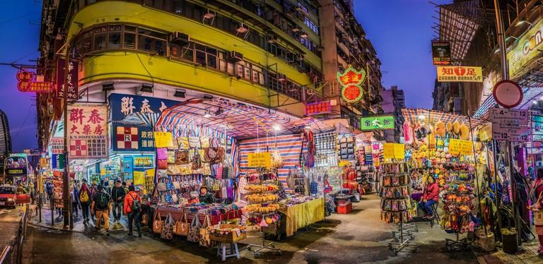Vibrant Ladies' Market in Mong Kok