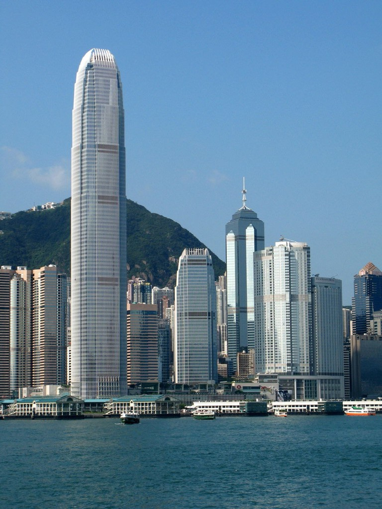 IFC Two, also known as 'The Hong Kong Finger'. Caption