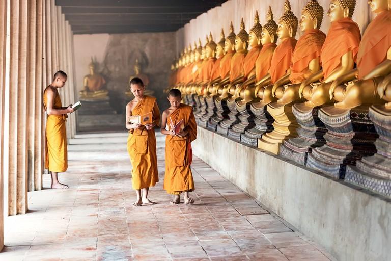 Buddhist monks in Nepal