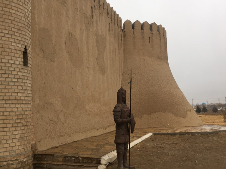 Walls made from camel poo