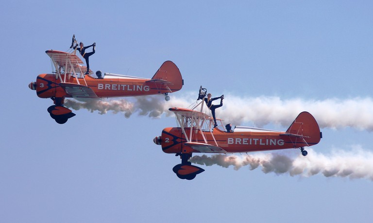 The Breitling Wingwalkers, Airbourne air show, Eastbourne