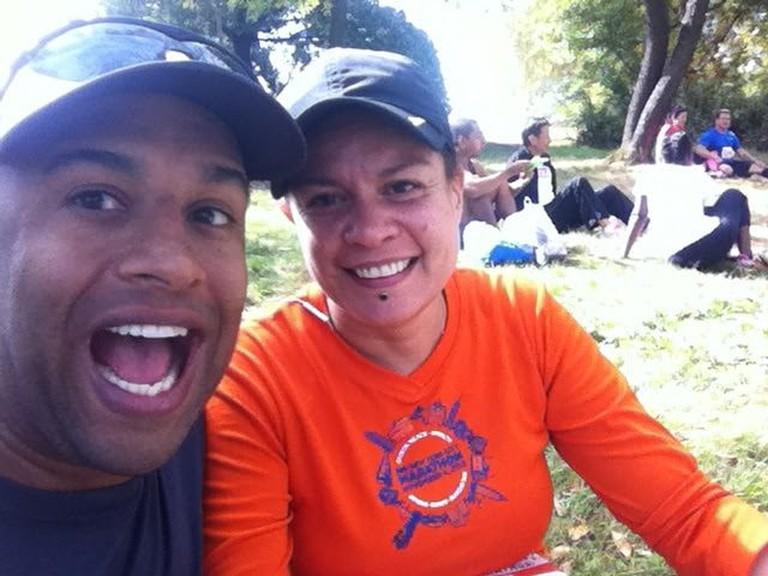 Yasir and Gwen ran their first marathon together in 2010