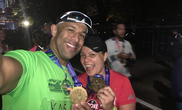 Yasir Salem started running marathons in 2010 with his wife, Gwen