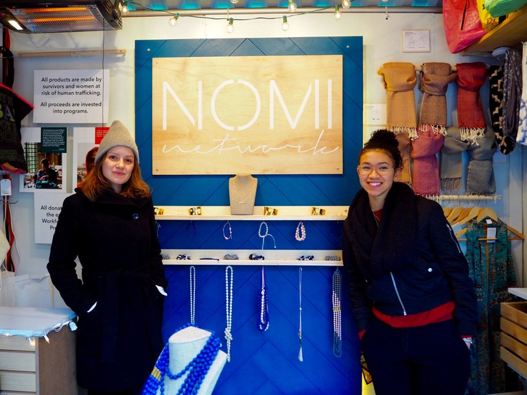 Nomi Network Stand at the USQ Holiday Market