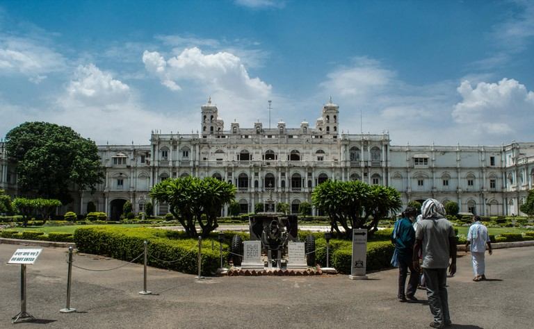 Built by the Scindia's, Jai Vilas Palace looks pristine in all white