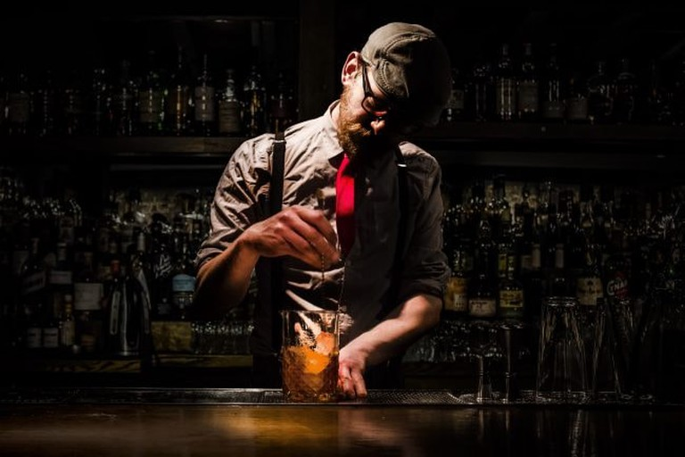 Chaim Dauermann, head bartender at The Up & Up in NYC