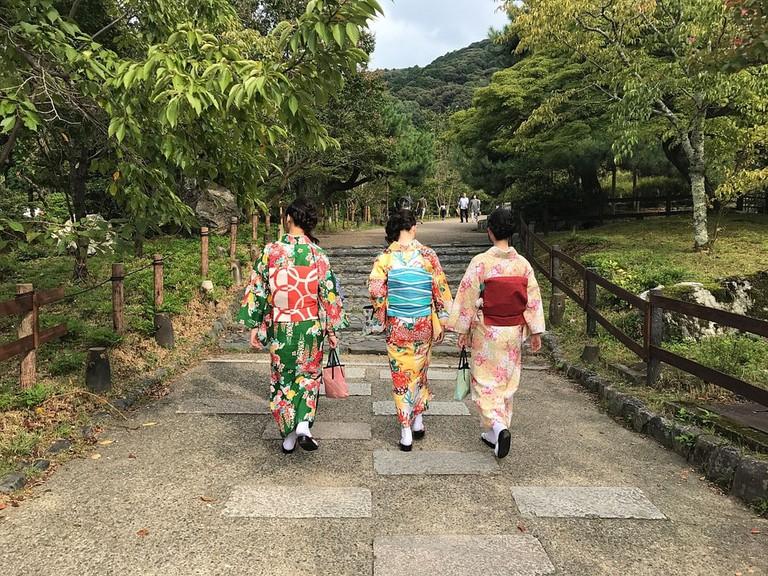 The summer kimono known as yukata is often worn for festivals