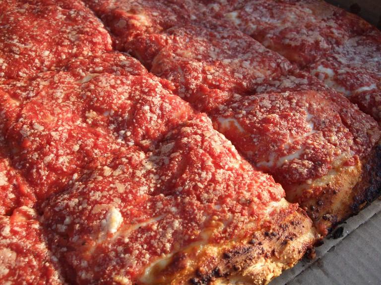 L & B Spumoni Gardens pizza | Kim Flickr
