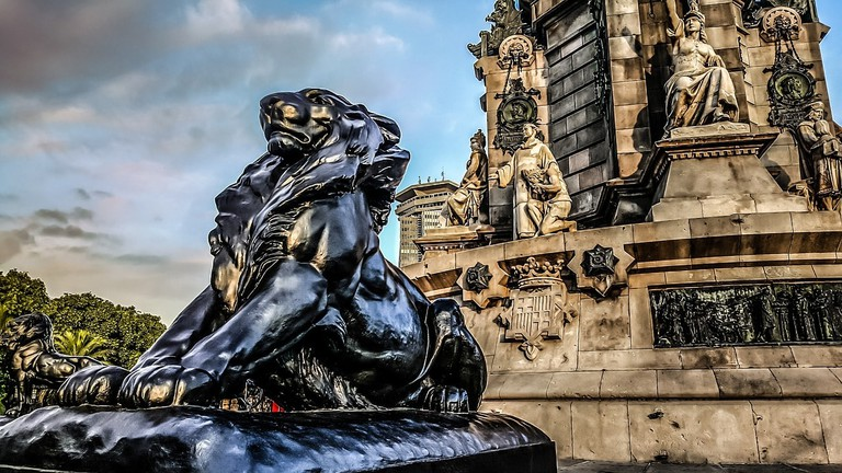 The Christopher Columbus monument in Barcelona I