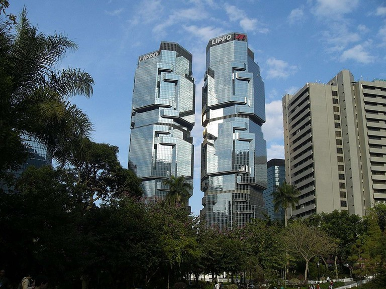 The Lippo Centre in Hong Kong, otherwise known as 'The Koala Tree'