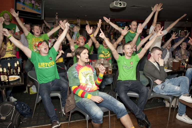 Lithuanian basketball fans