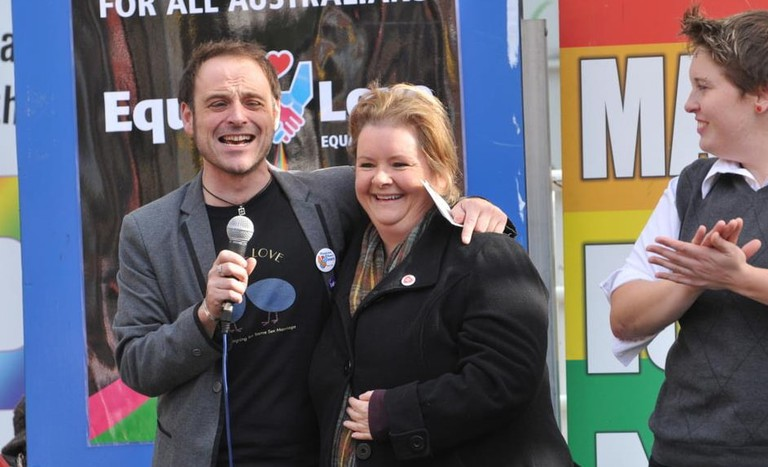 Magda Szubanski at a marriage equality rally | © Australian Progressive_Wikimedia Commons