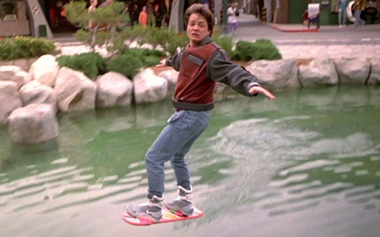 marty-mcfly-uses-a-mattel-hoverboard-to-escape-from-thugs-in-2015