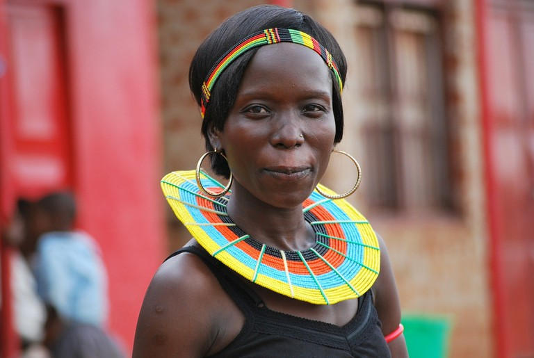 Modern Masaai women with traditional beaded adornment