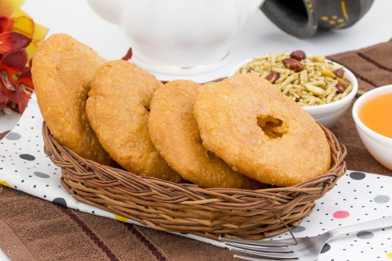 Mawa Kachori is a toothsome dessert with lots of nuts and dried fruits infused within it