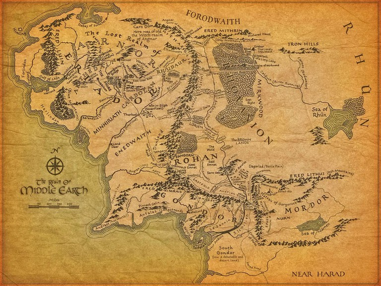 J.R.R. Tolkien's Middle-earth map
