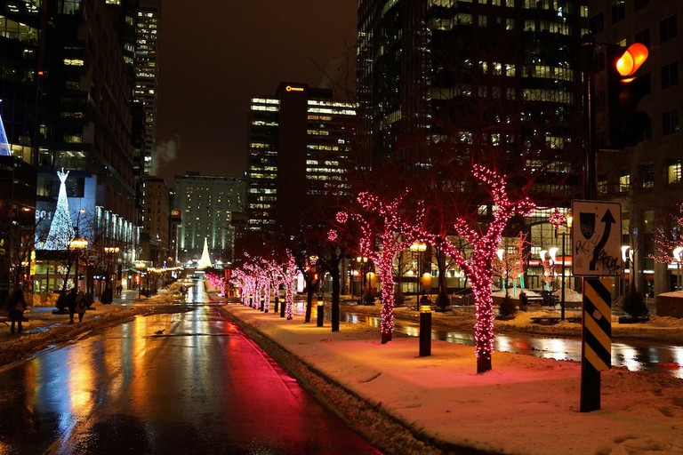 Montreal on a winter's night