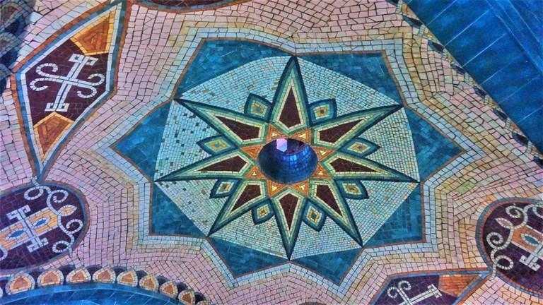 Mosaic inside a sulfate bath, Tbilisi, Georgia-01-min