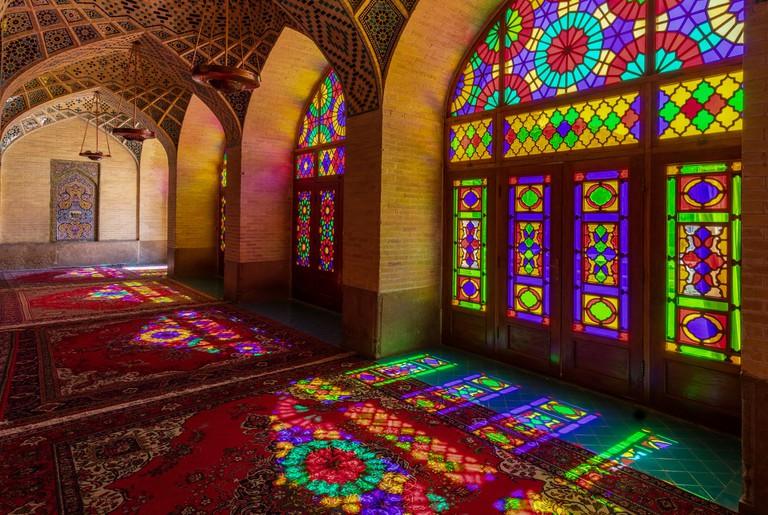 Nasirolmolk mosque, Shiraz, Iran