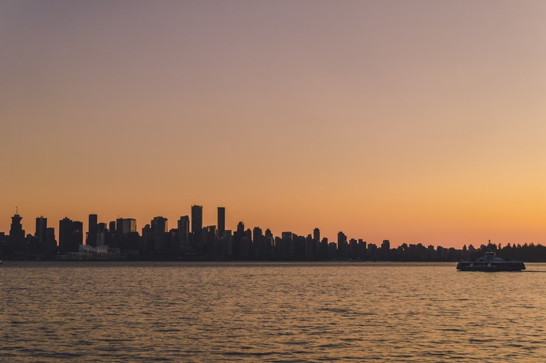 Beautiful sunset from Lonsdale Quay