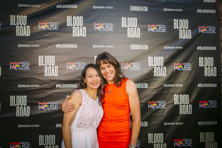 Nguyen and Rusch before the Blood Road screening in Santa Monica, CA, USA.