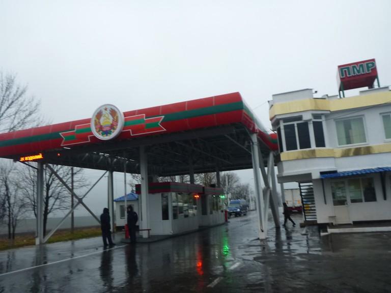 The Moldova to Transnistria border