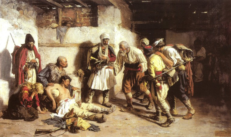 'The Wounded Montenegrin' (1882)
