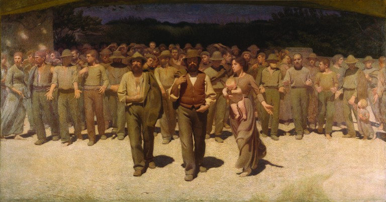 Giuseppe Pellizza from Volpedo, 'The Fourth State' (1898–1902) at Museo Novecento | © Comune di Milano – all rights reserved