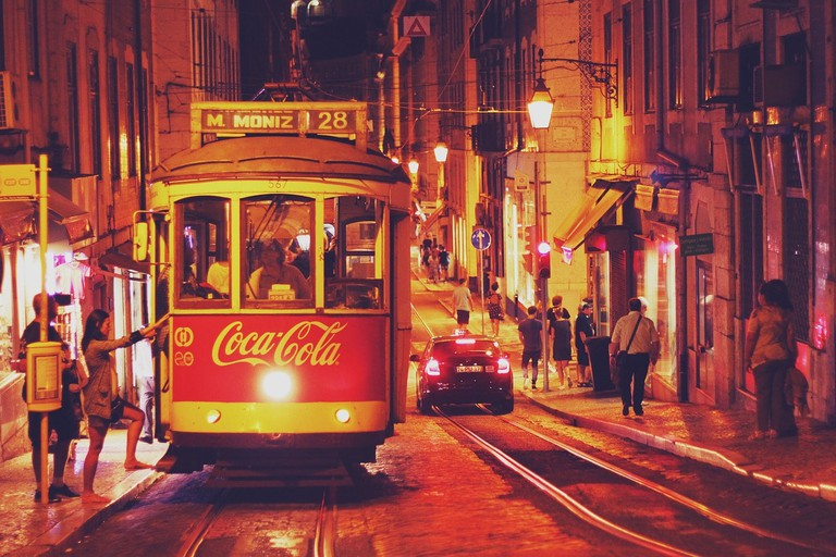 Ride the tram in Lisbon