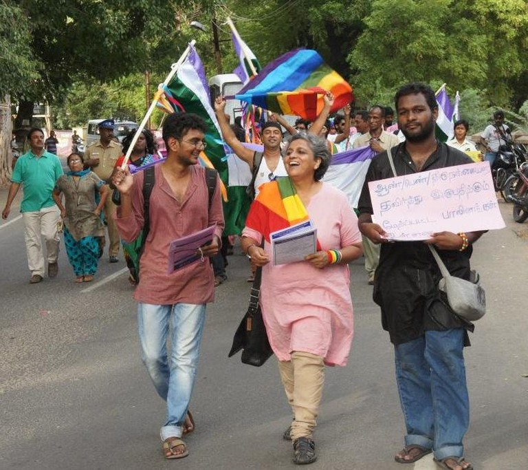 A pride march in the south Indian city of Madurai