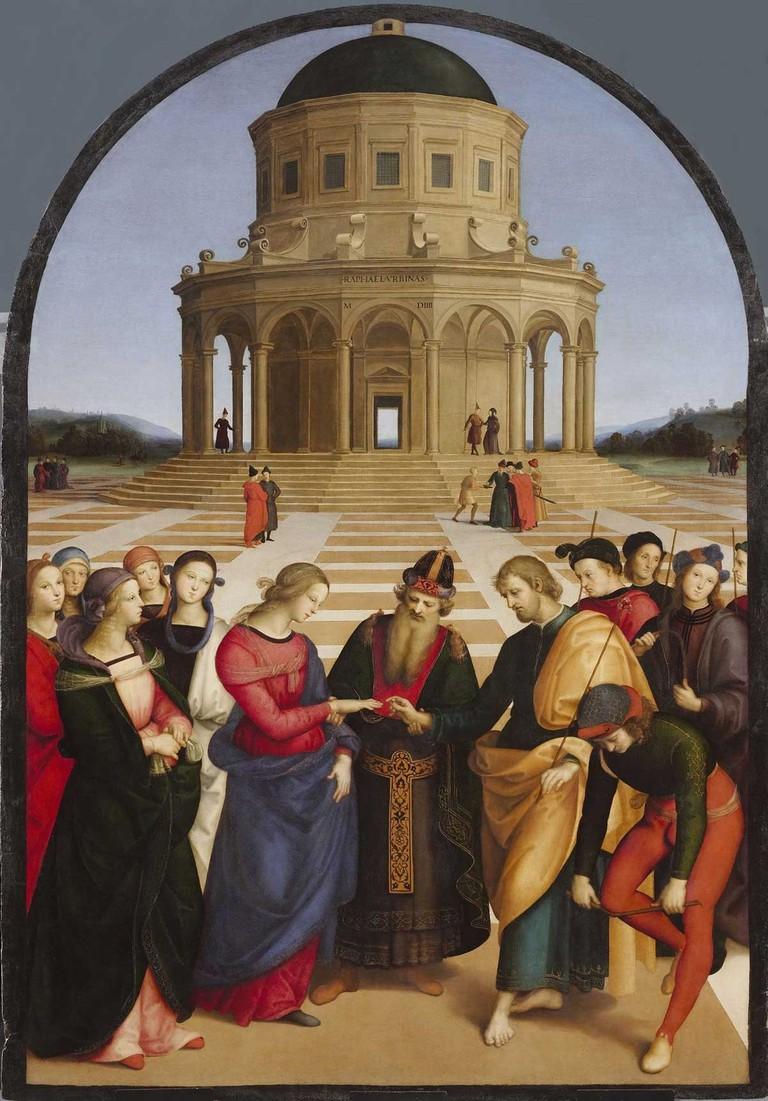 Raffaello Sanzo (Raphael), 'The Marriage of the Virgin' (1504) at Pinacoteca di Brera