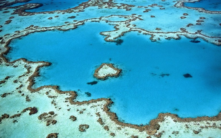 Aerial view, the Great Barrier Reef
