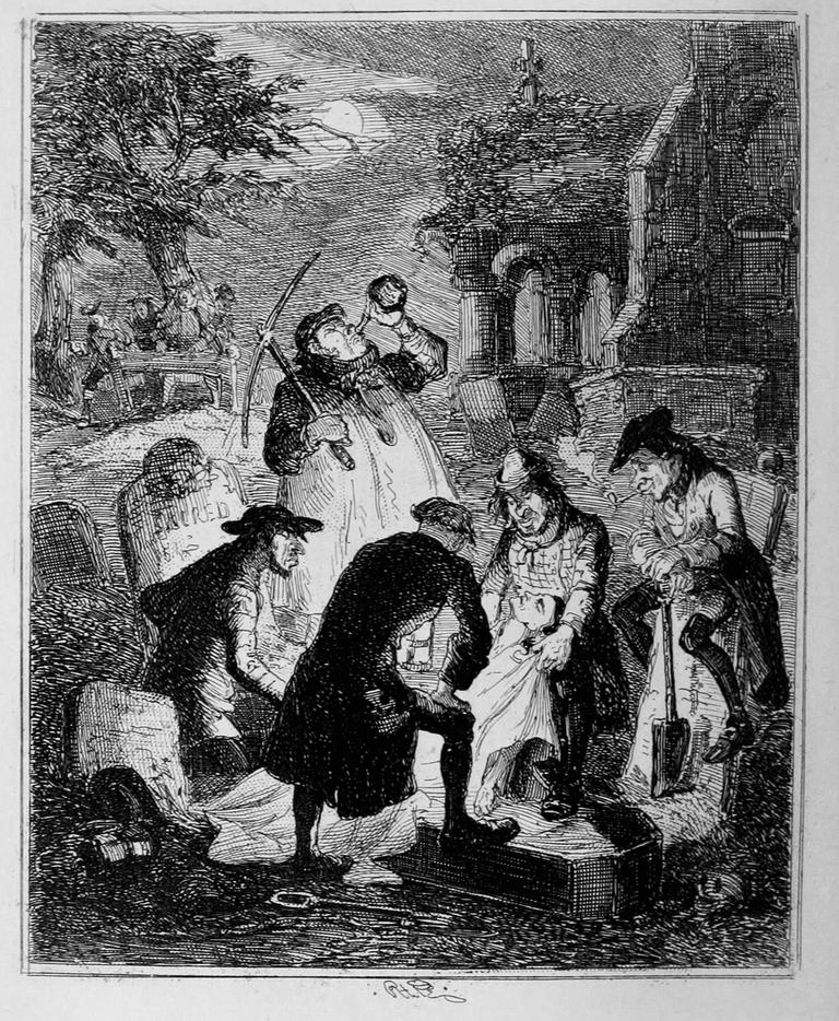 Resurrectionists at Work | Public Domain via WikiCommons