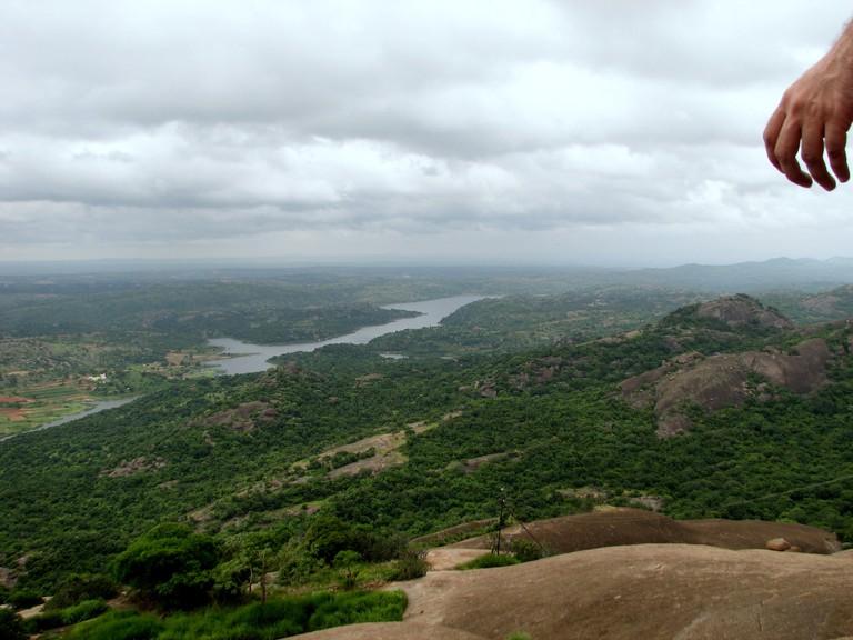 Savandurga is one of the easier hikes in Karnataka
