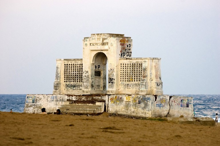 The popular Schmidt Memorial in Besant Nagar/Elliots Beach