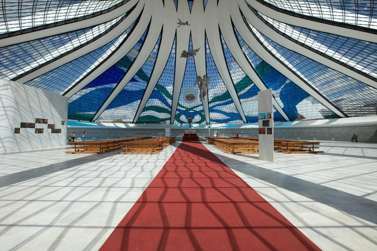 Interior of the Brasilia Cathedral