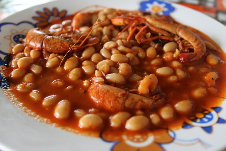 White beans and shrimp