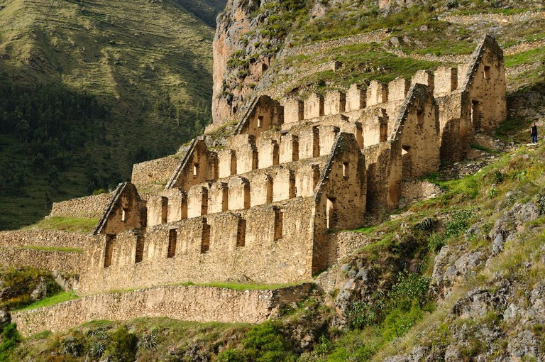 Pinkulluna Inca ruins in the sacred valley in the Peruvian Andes