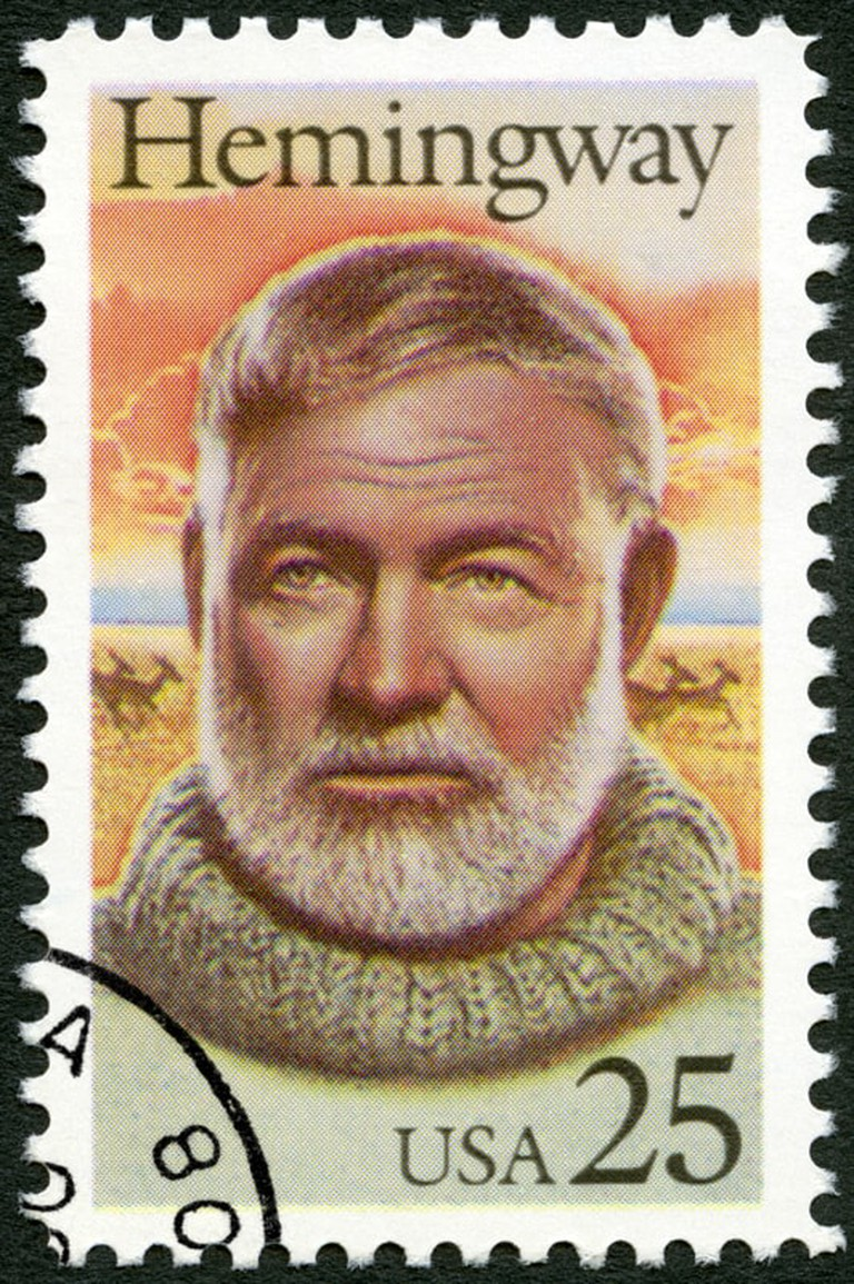 A US stamp portraying Hemingway circa 1989