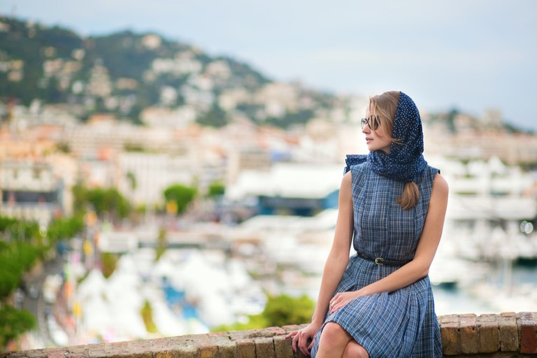 Southern French glamour means always having a scarf handy