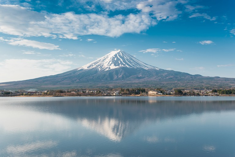 One of the most iconic views of Mount Fuji, from Lake Kawaguchi