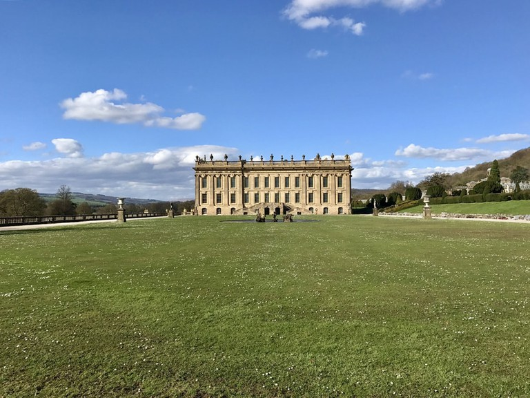 Chatsworth House in the Derbyshire Dales