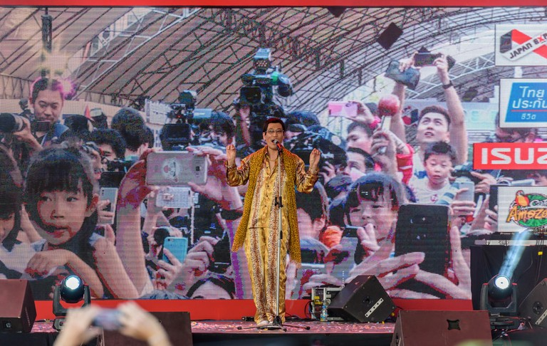 Pikotaro performs live at the 2017 Japan Expo in Thailand