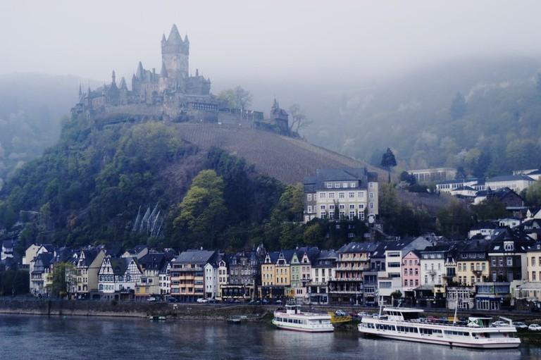Cochem, Germany, shrouded in mist
